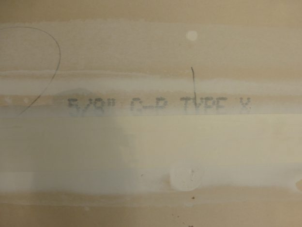 Dylan Chalk photo of fire-rated gypsum drywall