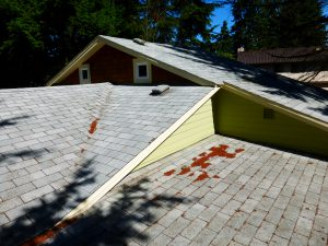 complex roof line indicates many changes to house