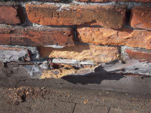 Photo of spalling brick